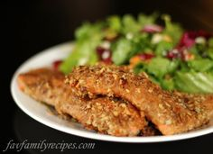 Pecan Crusted Salmon from favfamilyrecipes.com #salmon #pecans #seafood #recipes