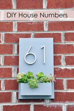 DIY modern house numbers