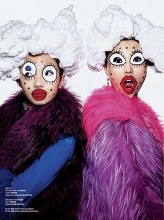 Richard Burbridge, V Magazine, Magazine Editorial, Makeup Carnaval, Carnival Makeup, Halloween Gesicht, Pop Art Fashion, Trendy Fashion, High Fashion