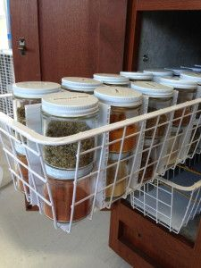 Simple but effective spice organization! I love this idea! #rv