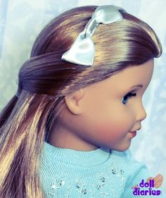 Simple hairstyle for headbands - works for dolls and girls.