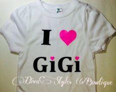 Gigi bodysuit gigi loves me I love Gigi Gigi by BrooklynVStone