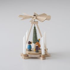 Miniature Wooden Candle Carousel | Schoolhouse Electric Holiday 2016