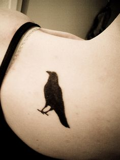 """crow tattoo. Would love to get this with """"Now shall you deal with me, O Prince and all of the powers of Hell"""" Maleficent of course :)"""