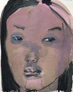 (small eyes, suspecting) Mixed Blood, Marlene Dumas, 1996