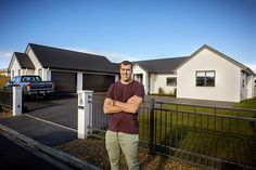 New Zealand rugby union star Brodie Retallick and his wife Niki partnered with national top 10 building company, Generation Homes to construct their five bedroom home in a popular subdivision north-west of Hamilton. #house #newhome #houseexterior #brodieretallick #generationhomes