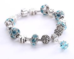 Crystal Field Of Daisies Murano Glass&Crystal Bracelets (7 styles) | GonChas