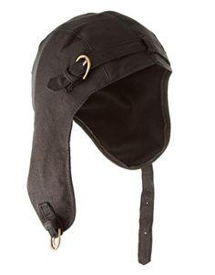 e10def728b47b6 Steampunk Hat, Victorian Steampunk, Steampunk Fashion, Black Aviators, Aviator  Hat, Leather