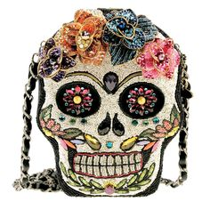 Mary Frances Sugar Rush Day of the Dead Flower Beaded New Handbag Purse Bag New #MaryFrances #EveningBag