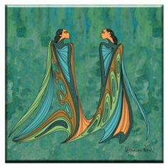 Design by Sioux Artist Maxine Noel. Ceramic tiles can be hung on the wall or used as a trivet, measuring 15cm x 15cm. Gatineau, Quebec, on the banks of the Ottawa River, directly opposite Parliament Hill.