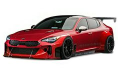 Kia Stinger GT3 Kia Stinger, Dodge Chargers, Chip Foose, All Cars, My Ride, Car Stuff, Car Ins, Custom Cars, Wheels