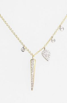 MeiraT 'Charmed' Diamond Spike Pendant Necklace available at #Nordstrom