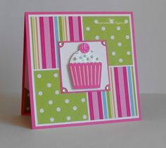 Stacey& Creative Corner: Birthday card with Sketches:Creatively Yours - Basteln - Girl Birthday Cards, Bday Cards, Handmade Birthday Cards, Greeting Cards Handmade, Children Birthday Cards, Cupcake Birthday, Birthday Images, Birthday Quotes, Birthday Greetings