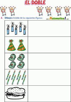 matematica1.com conociendo-el-doble-y-la-mitad-ejercicios-de-primero-de-primaria-en-pdf Hello Summer, How To Plan, Education, Google, Psp, Preschool Learning Activities, Mathematics, Children, Teaching
