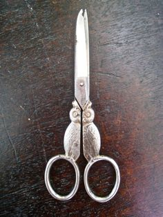 Antique Scissors with Figural Owl by magpiesfancyshop on Etsy, $24.00