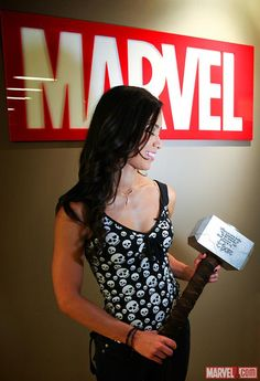 AJ Lee - the next (female) Thor? Jeff Fisher, Female Thor, Wwe Women's Division, Nxt Divas, Wwe Tna, Aj Lee, Wrestling Divas, Wwe Womens, Female Wrestlers