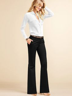 Victoria's Secret The Kate Flare Pant in Stretch Cotton on shopstyle.com