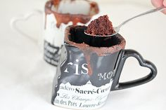 nutella chocolate mug cakes