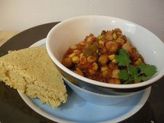 Chickpea and Corn Chili - http://www.thatvegangirl.com/chickpea-and-corn-chilirecipe/  #vegan #recipes