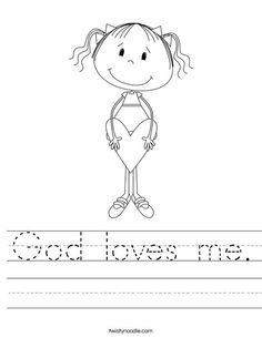 God loves me Worksheet - Twisty Noodle
