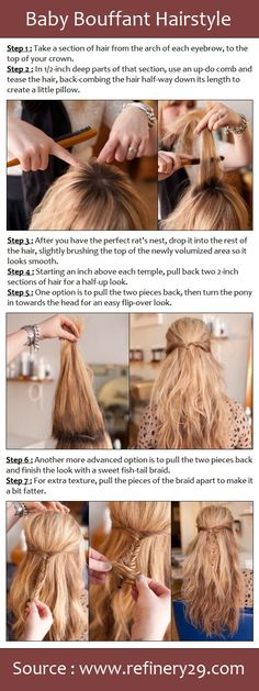 Baby Bouffant Hairstyle ~ Pretty