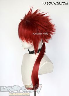 3/'/' Short Spiky Combed Back Wig with no Part Pitch Black Cosplay Wig NEW