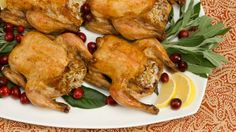Best Recipes, #14 Roasted Stuffed Cornish Hens