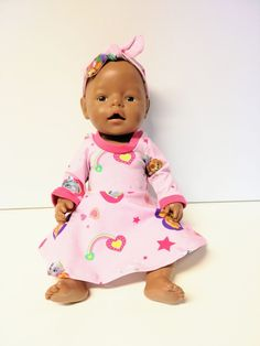 2 delt sett til dukken Baby Born, Face, Pink, The Face, Faces, Facial