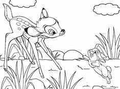 Printable Bambi Coloring Pages For Kids | Cool2bKids