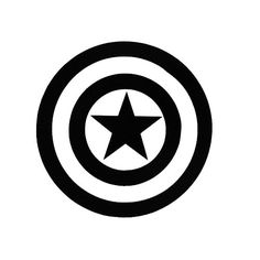 Captain American Window Sticker by CraftyItemShop on Etsy