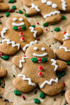 Recipes A simple, delicious, and classic gingerbread men recipe! these cookies are made with all butter (no shortening) and are topped off with a simple frosting. Gingerbread Men Icing, Gingerbread Man Cookie Recipe, Chewy Gingerbread Cookies, How To Make Gingerbread, Gingerbread Houses, Best Christmas Cookies, Holiday Cookies, Christmas Treats, Holiday Treats