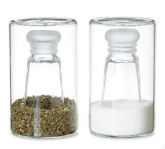 Modern salt and pepper shakers   Source: DesignMilk.com