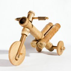 Design studio a21 have created a simple bamboo tricycle that can be modified and re-imagined to match children's own specific requirements.