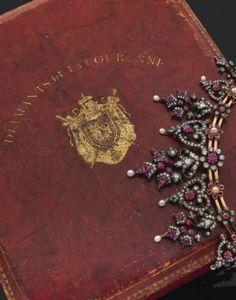 Royal Jewels, Crown Jewels, Ruby Necklace, Collar Necklace, Jewel Box, Rose Cut Diamond, Pendant Set, Bridal Jewellery, Jewelry
