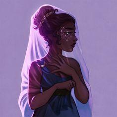 Elisa Tulli: foto - elisebrave: Nyx, goddess of the night. I get so many notifications from this that it's scary lol - Black Girl Art, Black Women Art, Black Art, Art Girl, Arte Percy Jackson, Magic Art, Character Design Inspiration, Pretty Art, Love Art