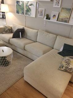 Best Material For Carpet Runners Ikea Living Room, Living Room White, White Rooms, Ikea Vimle Sofa, Ikea Bank, Snug Room, Beige Sofa, Small Sofa, Bedroom Carpet