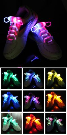 LED Shoelaces | I get lost so easily, I need these so people can find me! hahaha | Check it out here ==> http://gwyl.io/led-shoelaces/