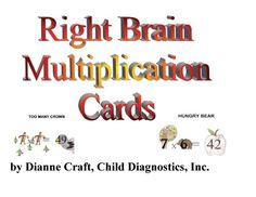 Right Brain Multiplication Cards  #dyslexia #dyslexicchild #dysgraphia #ADHD #mathfacts