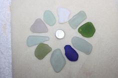 AWESOME BEACH GLASS Large  Pendent Size by BEACHGLASSSWEPTASHOR