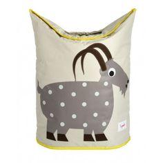 Jut en Juul Lifestyle for Kids : Wasmand Goat - Geit - grijs met geel