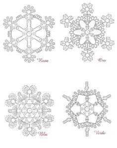 Charted Crochet snowflakes