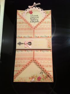Inside the baby card