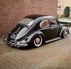 Little German Black Beauty.A Classic Icon in Automobiles Auto Volkswagen, Volkswagen Karmann Ghia, Vw T1, Vw Bugs, German Look, Kdf Wagen, Vw Classic, Vw Vintage, Vw Beetles