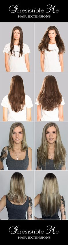 Behold the magic of clip in hair extensions! Irresistible Me 100% Remy hair extensions – they come in 11 colors. You get to pick the length and weight you need. Free returns and exchanges. #IrresistibleMe