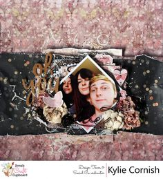 """The second layout Kylie Cornish has to share where she is using Prima Marketing's latest collection """"Wild & Free"""", this layout is titled """"'Oh You Three"""".  You can see both of her layouts, a card and a video tutorial over on the @annascraftcupboard blog  #scrapbooking #annascraftcupboard #annasdtmember #scrapbookinglayout #mixedmedia #primamarketinginc"""