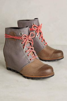 I know I don't actually NEED these... but oh so pretty!  Sorel 1964 Premium Wedge Boots - anthropologie.com