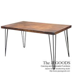 Meja Makan Kayu Kaki Besi - Hairpin Industrial Metal Wood Rustic Dining Table Made by Jepara Goods Indonesia.    We produce and supply #rusticfurniture #industrialfurniture at affordable price by skilled #craftsman from Jepara, Central Java - Indonesia.