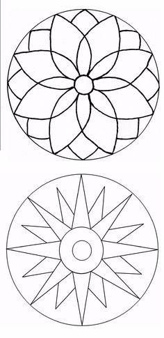 Simple Mandala Art Pattern And Designs – All Image New Mandala Art, Mandala Painting, Mandala Pattern, Dot Painting, Mandala Design, Pattern Art, Stained Glass Patterns, Mosaic Patterns, Doodle Patterns