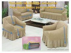 El Rincon de Ana Maria: Como hacer los forros para tus muebles