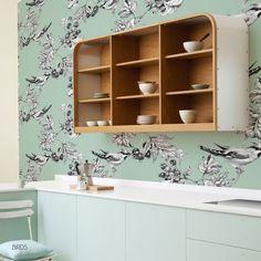 Birds Wallpaper Mural by Behangfabriek, lovely mural for your kitchen or bedroom